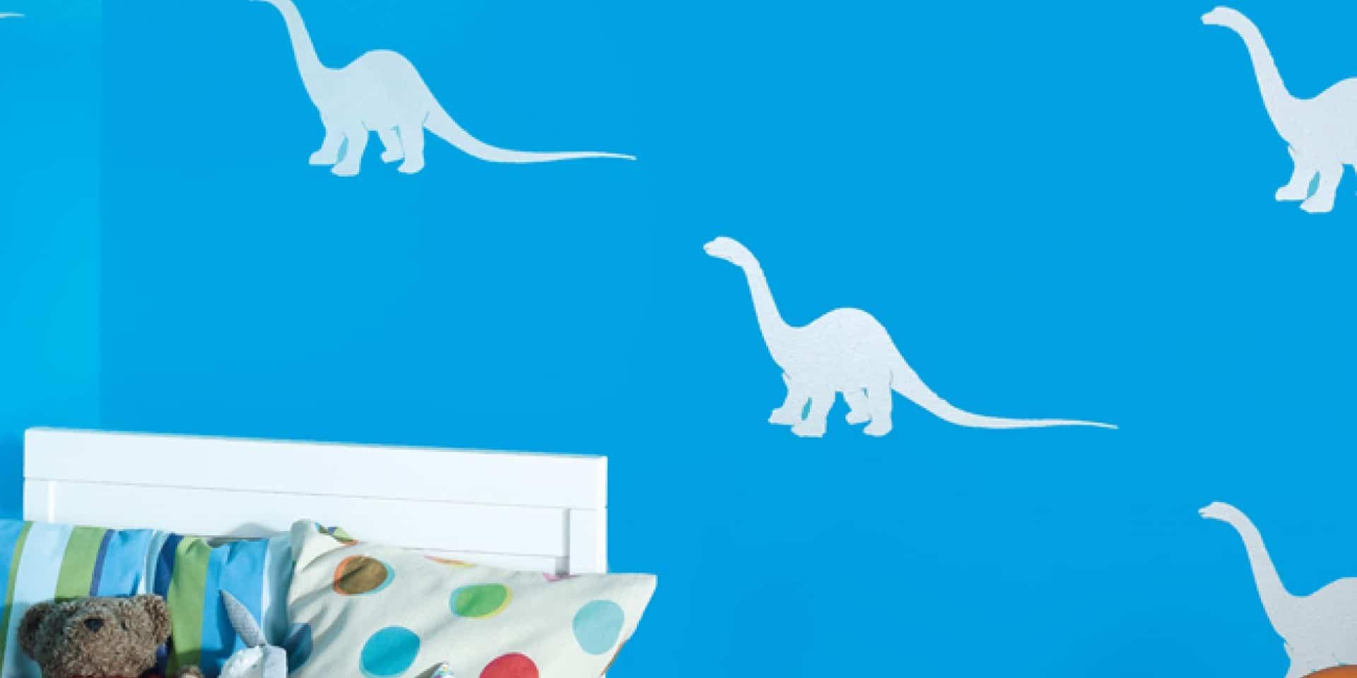 Wzory z szablonów w pokoju dziecka – Podniebna dekoracja z Tikkurila